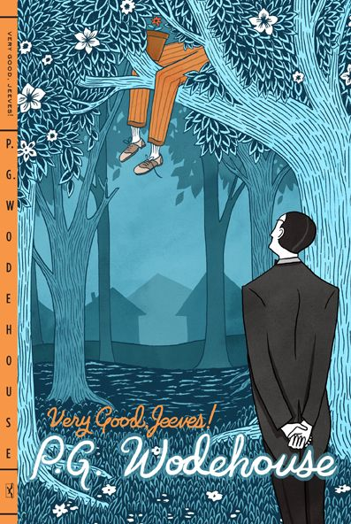P.G.Wodehouse wrote some very funny stories in the 1920's, most famously the adventures of Wooster and his butler, Jeeves.: Books Worth Reading, Book Covers Illustration, Creativecover Books, Book Illustrations Covers 2, Cover Art, Book Design, Nice Bookcovers