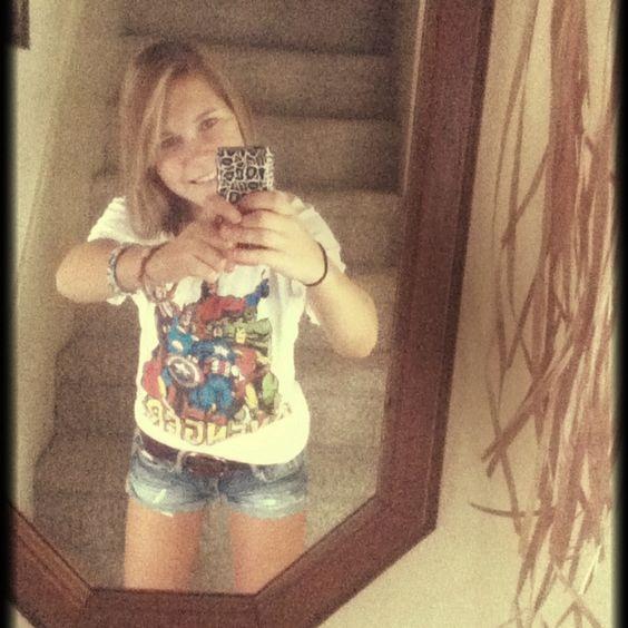 Throwback Avengers shirt!