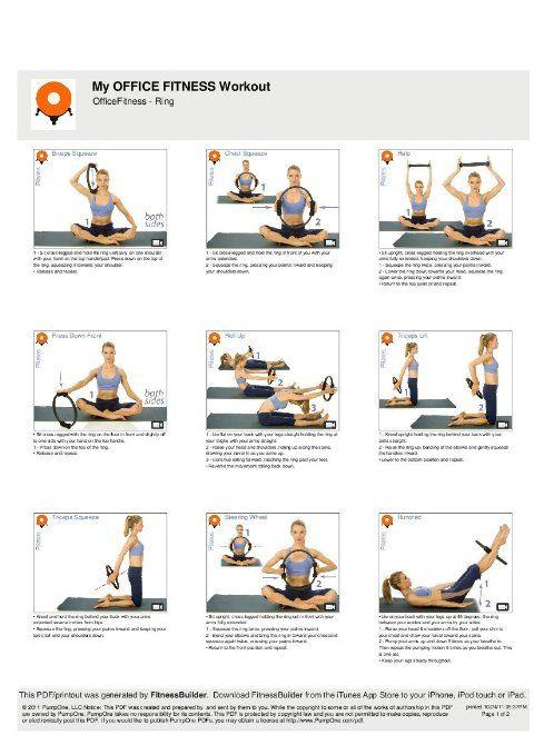 Exercices avec l'anneau de Pilates | Pilates | Pinterest ...