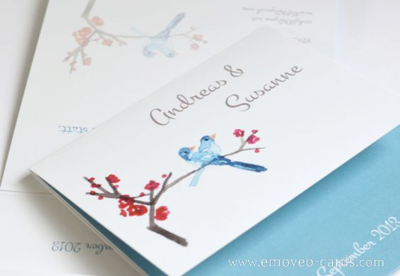 Partecipazione matrimonio acquarello - Hochzeitseinladung Aquarell - Wedding invitation Watercolor