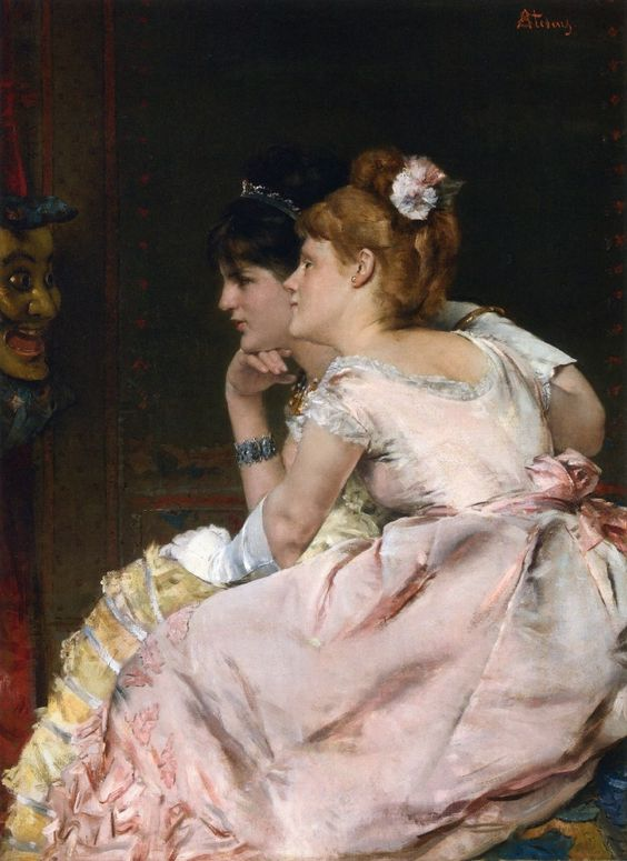 The Japanese Mask (1877), by Alfred Stevens.: