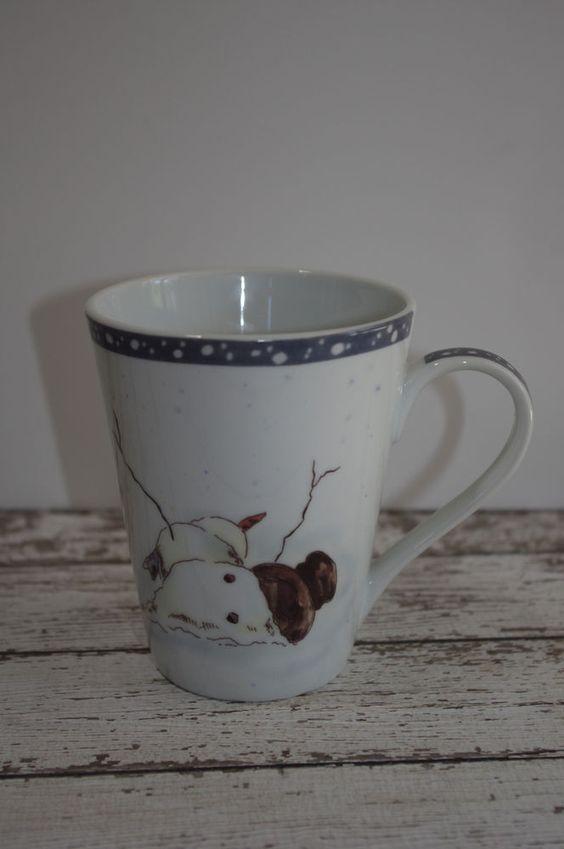Tracy Porter Melting Snowman Mug ~ Fallen Snowman ~ EUC ...