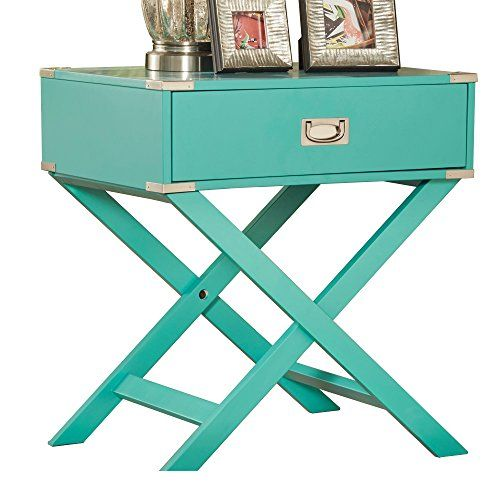 Special Offers Modhaus Living Modhaus Teal Green Accent Table
