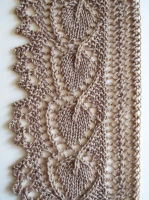 Leaf Lace edging, v2 - with chart: