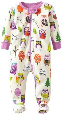 Amazon.com: Hatley Baby Girls Newborn Footed Coverall Party Owls: Clothing