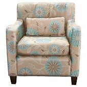 Exeter Accent Chair Blue Floral