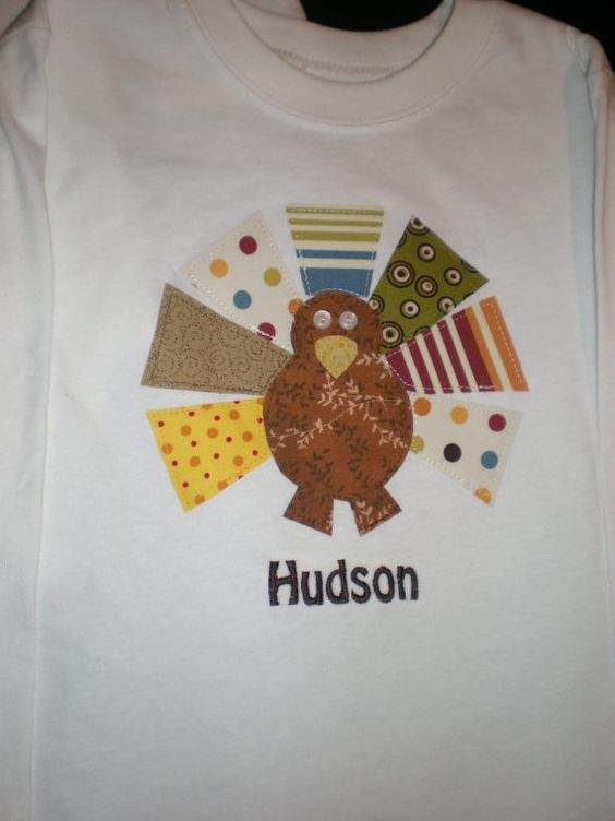 Personalized Boy Turkey Thanksgiving Shirt or by yellowstroller, $27.00