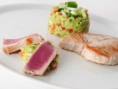 10 Weeks Body Change Rezept: Thunfischsteak mit Wasabi-Avocado-Dip