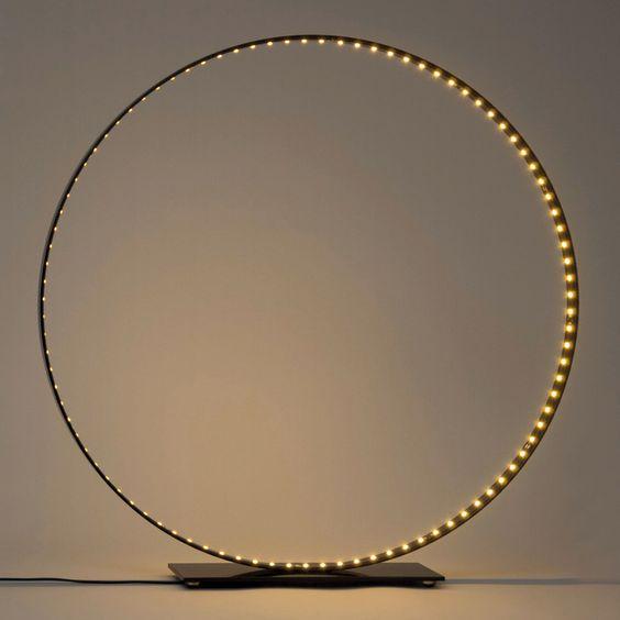 Lampe de table Classic / LED - Ø 63 cm Noir - Le Deun