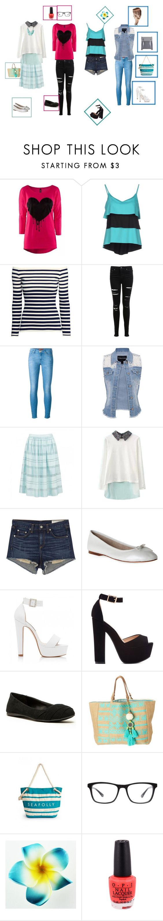 """Wanna Be?"" by justkittn33 ❤ liked on Polyvore featuring FISICO Cristina Ferrari, H&M, Miss Selfridge, 7 For All Mankind, maurices, Forever New, rag & bone/JEAN, Bloch, Qupid and Star Mela"