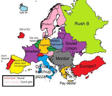 Europe according to 9gag