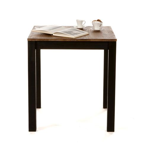 table manger carr e en bois teck langoya for the. Black Bedroom Furniture Sets. Home Design Ideas