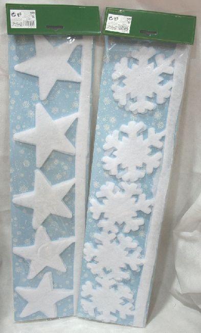 decorazione in ovatta fiocco di neve o stella decorazione per finestre ...