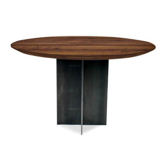 Ausziehtisch Syncronauszug Brutus Tisch Mit Stahluntergestell Esstisch Rund Ausziehbar Design Tisch Tisch