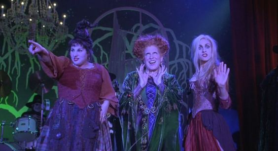 """Hocus Pocus - """"It isn't Halloween until the Sanderson sisters make their dramatic entrance in Hocus Pocus. Perhaps one of the most formidable and quotable movies of my childhood (even year round), it didn't even need to be Halloween for me to have an excuse to sing and dance my way around the house à la Bette Midler, putting a spell on everything in sight."""" —Cameron Bird, Vogue.com Photo Assistant"""