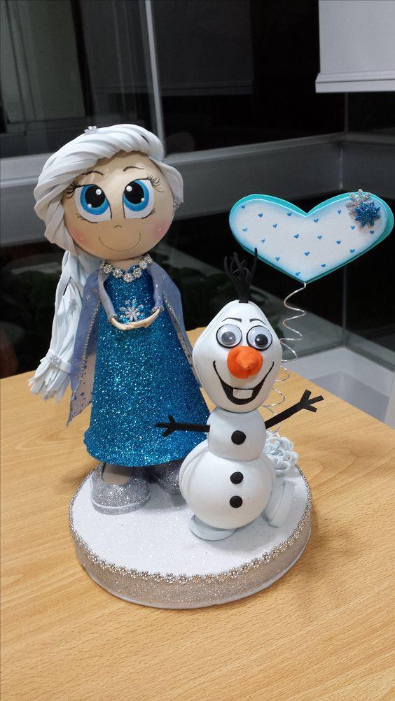 Elsa y Olaf fofuchas: