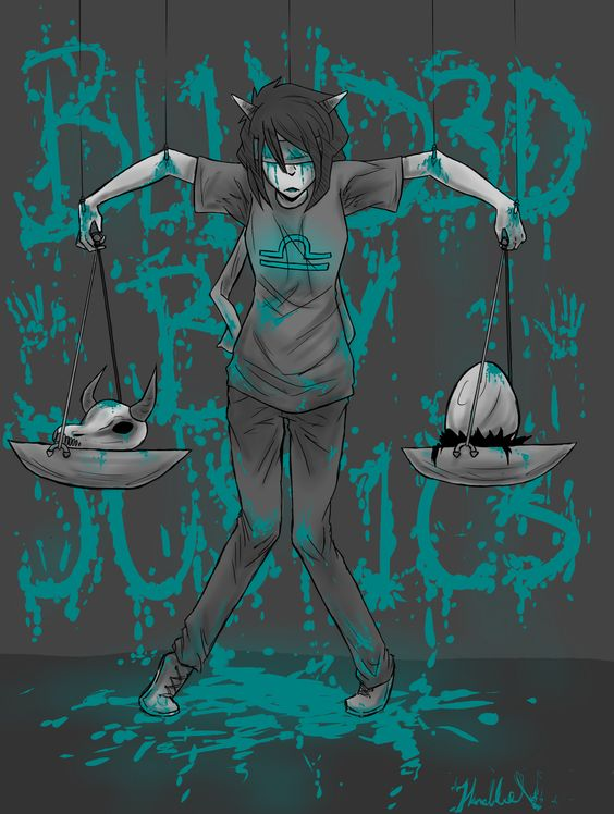 Terezi. ((Woah woah woah, that's a lot of blood. There's gonna have to be a TW:blood on here. Betcha didn't expect that.))