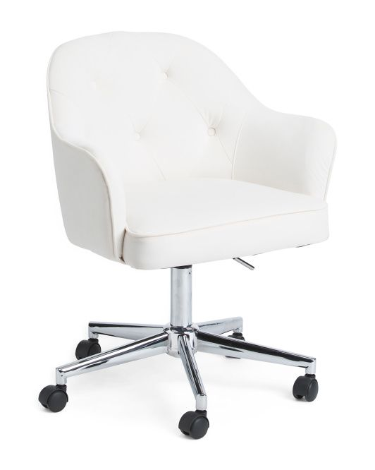 Tufted Office Chair Comfy Office Chair Desk Chair Comfy White Desk Chair