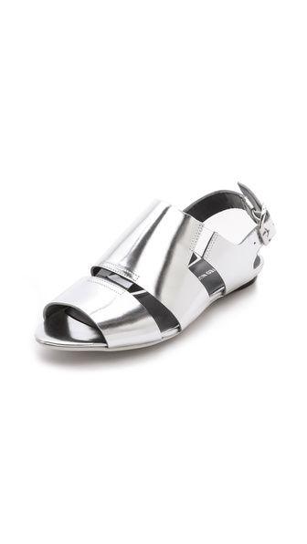 United Nude Kim Low Metallic Flat Sandals | SS 2014 | cynthia reccord