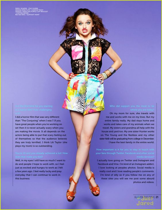 Joey King: 'Glamoholic' July 2013 Feature