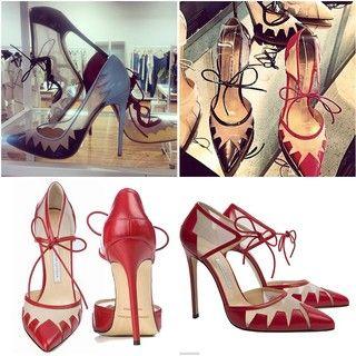 Sapatos da grife Bionda Castana contam com laço no tornozelo e malha na parte da frente para não machucar os dedos dos pés... o sapato do momento...bjkasss