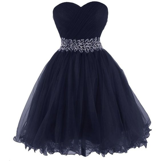 Tidetell 2015 Strapless Royal Blue Homecoming Beaded Short Prom... ($99) ❤ liked on Polyvore featuring dresses, gowns, short prom gowns, blue ball gown, blue prom dresses, homecoming dresses and royal blue evening gown