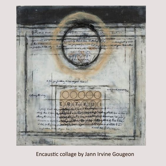 Encaustic Collage by Jann Irvine Gougeon