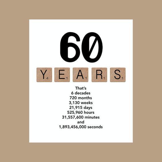 60 Jaar Verjaardag Verrassing.60th Birthday Card Milestone Birthday Card The Big 60