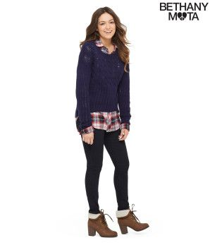 Cable Knit Sweater - Bethany Mota Collection