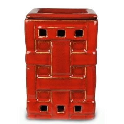 Red Woven Fragrance Warmer - Wax Melter by Boulevard
