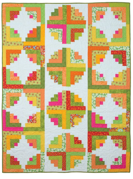 "Learn to create the illusion of curvy quilt designs using cleverly designed log cabin blocks created with 1-1/2"" and 2-1/2"" fabric strips. Create fun curves, waves or circles—all with straight-line stitching! Yardage requirements and cutting charts are provided for a range of block sizes. Includes complete instructions to make eight unique, curvy log cabin projects. Plus clear, concise, step-by-step photos and instructions for making curvy log cabin blocks with the Cur..."