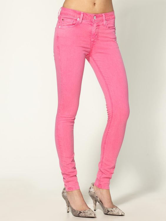 i really want pink skinnys, and purple!