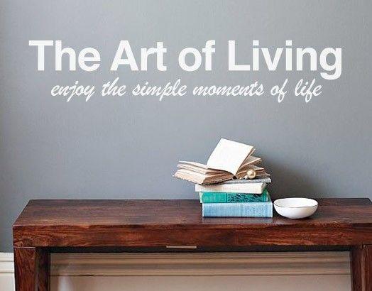 Texto The Art of Living em vinil autocolante - Textos - Texto The Art of Living em vinil autocolante - Decoração em vinil Autocolante decorativo e Papel de parede