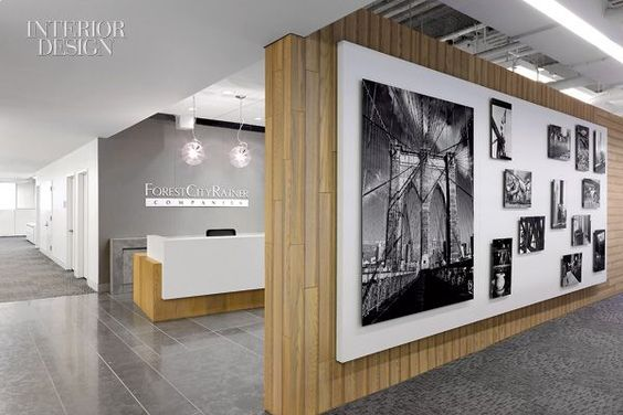 Creative Office Reception Desk Design