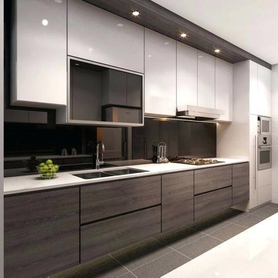 Two Tone Modern Kitchen Cabinets two tone modern kitchen | Innenarchitektur küche, Moderne küche