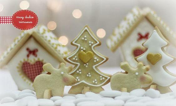 """"""" MUY DULCE """" MARIAPI Y MERCEDES GARCIA DE VINUESA GALLETAS DECORADAS: La magia de la Navidad ........suerte para todos!!!!!"""