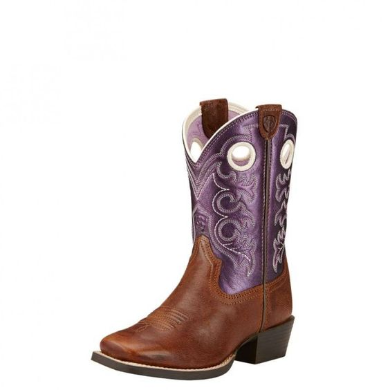 Ariat Kids Crossfire Sparklin Boot $149.95 Let your little cowgirl feel like the next Rodeo Queen in these wide square toe boots from Ariat.