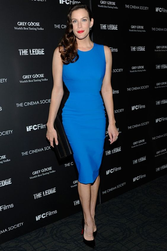 optical illusion dress liv tyler blue