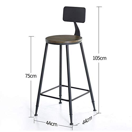 European Style Wrought Iron Bar Stool Solid Wood Seat Home Decoration Kitchen Bar Counter Stool Bar S With Images Wrought Iron Bar Stools Bar Table And Stools Bar Stools