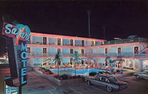 Vintage Postcard of Safari Motel in Wildwood Crest, New Jersey, via Cardcrow