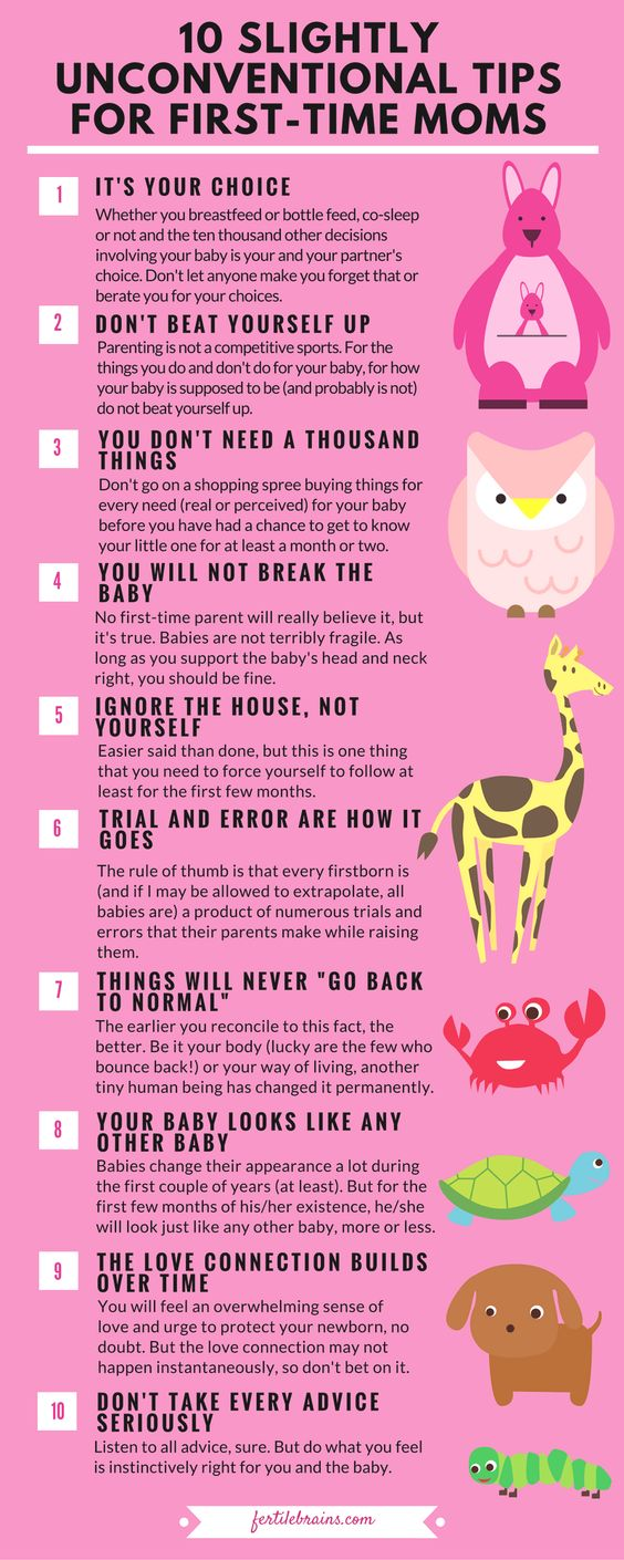 10 Slightly Unconventional Tips For First Time Moms