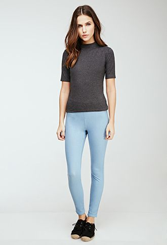 Stretch-Knit Skinny Pants | Forever 21 Canada