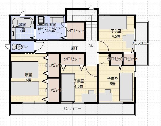 間取り35 40坪5ldk2階浴室小上がりダイニング2f 間取り 浴室 間取り