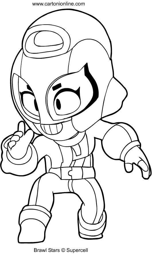 Download Or Print This Amazing Coloring Page Max From Brawl Stars Coloring Page Star Coloring Pages Coloring Pages Marvel Coloring
