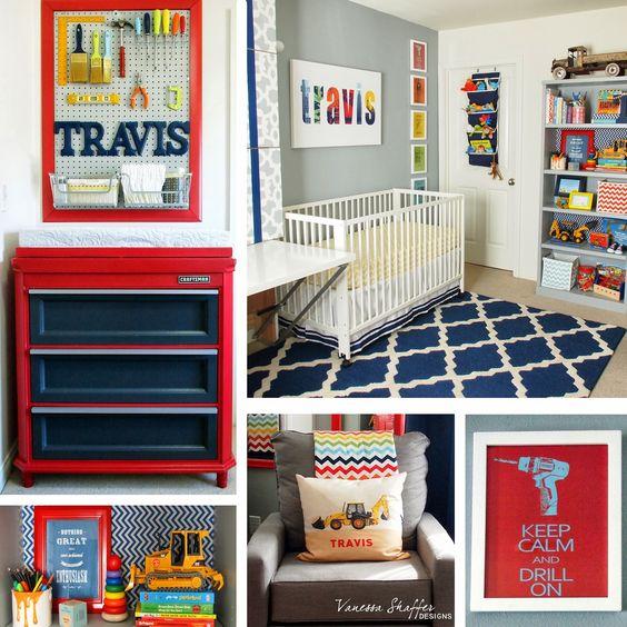 Vanessa Shaffer Designs: Travis' Construction Themed Nursery.  Amazing boy's room!  Love the changing station.