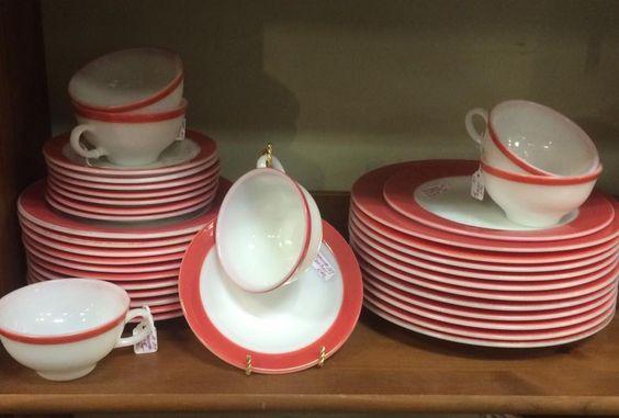 Vintage Pyrex Flamingo dishes