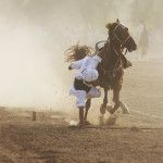 Falling Is A Part Of The Great Game Of Tent Pegging