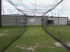 Great Deal on this 55' Batting Cage Net. #51 Braided Poly With Door opening. backyard or high school use.QUALITY. See It