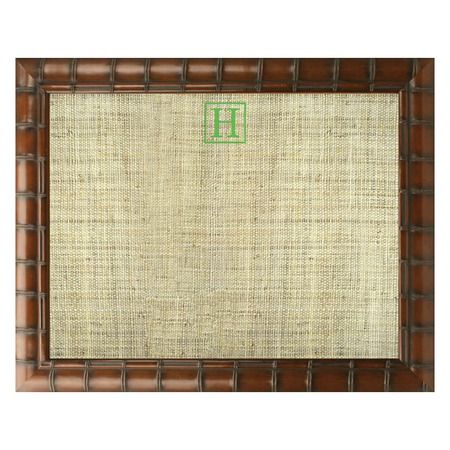 Monogrammed Pinboard/Bamboo Frame  I think this would be a fun DIY project