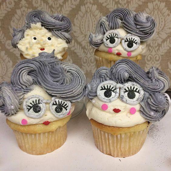 Cupcakes para el día de los Abuelos
